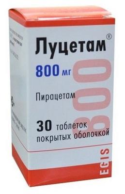Луцетам таблетки